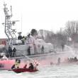 Corteo sull'acqua contro Tav e grandi navi a Venezia