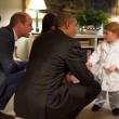 Kate Middleton, principino George saluta Obama2