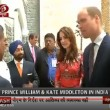 YOUTUBE Kate Middleton e William in India. Abito di lei...