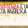 """CasaPound, striscione a Parma: """"Resistenza cagata pazzesca""""1"""