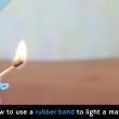 Elastico usato per accendere fiammiferi, ecco come 2