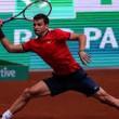 YOUTUBE Tennis, Dimitrov distrugge tre racchette in gara7