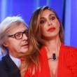 Belen Rodriguez e Vittorio Sgarbi al Maurizio Costanzo Show
