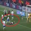 Mirko Gori esulta in faccia a Balotelli per rigore sbagliato