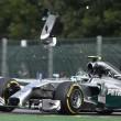 Hamilton e Rosberg incidente primo giro GP Spagna 04