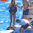 Belen Rodriguez in topless a bordo piscina 04