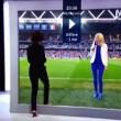 Euro 2016, effetto ottico in tv dallo studio allo stadio