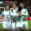 Video YouTube. Inghilterra-Portogallo 1-0: Smalling gol