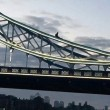 Si arrampica sul Tower Bridge e si mette a fumare