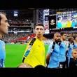 Suonano l'inno del Cile in campo c'è l'Uruguay6