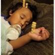 Torre di Cherrios sul neonato che dorme2