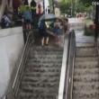 Washington, scala stazione metro diventa una cascata3