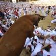 YOUTUBE Pamplona: prima corsa tori, 4 feriti 12