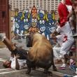 YOUTUBE Pamplona: prima corsa tori, 4 feriti 5