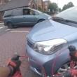 Trauma cranico per ciclista: colpito da auto che gira2