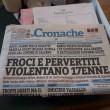 Cava de' Tirreni, Le Cronache di Salerno: titolo choc su 17enne