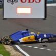 YOUTUBE Marcus Ericsson, incidente prove Gran Premio Silverstone5
