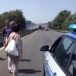 VIDEO YOUTUBE Pontina, 22 luglio nuovo incendio: traffico in tilt, 6km di coda 5
