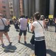 Giulio Regeni, flash mob Amnesty al Pantheon FOTO3