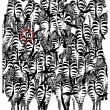 Illusione ottica: trova il tasso tra le zebre 2