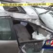 Florida, auto si ribalta quattro volte conducente sopravvive6