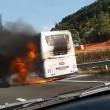 YOUTUBE Autostrada A1: bus in fiamme e incidente, traffico in tilt25