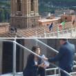 Virginia Raggi sul tetto del Campidoglio: FOTO su Twitter