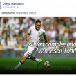 Francesco Totti, striscione su gru a Trigoria 2