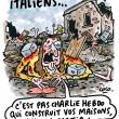 """Charlie Hebdo, nuova vignetta: """"Italiani, le case ve le ha costruite la mafia""""2"""