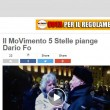 """Dario Fo, Grillo: """"Sarai sempre con noi""""23"""