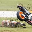 Marc Marquez, caduta nel Gp di Australia 01