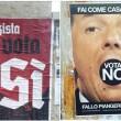 """Referendum: """"Nazisti per il SÌ"""", manifesti a Roma (Pigneto e Torpignattara) FOTO"""