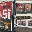"""Referendum: """"Nazisti per il SÌ"""", manifesti a Roma (Pigneto e Torpignattara) FOTO 2"""