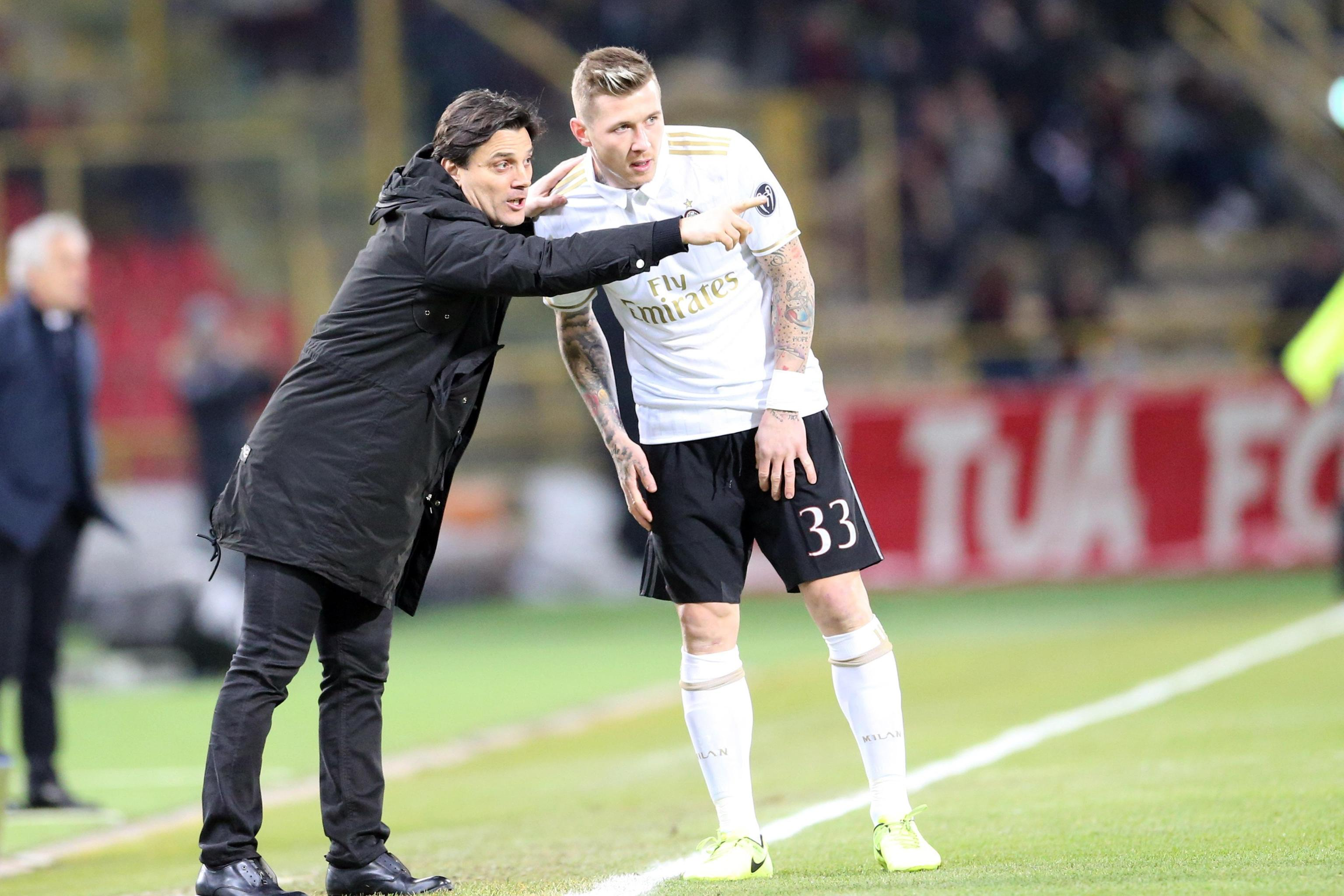 """Bologna-Milan, Montella: """"Deulofeu? Ha fatto una partita incredibile"""""""