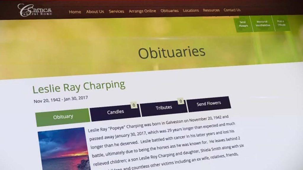 """Leslie Ray Charping, necrologio dei parenti: """"Ha vissuto più di quanto meritasse"""""""