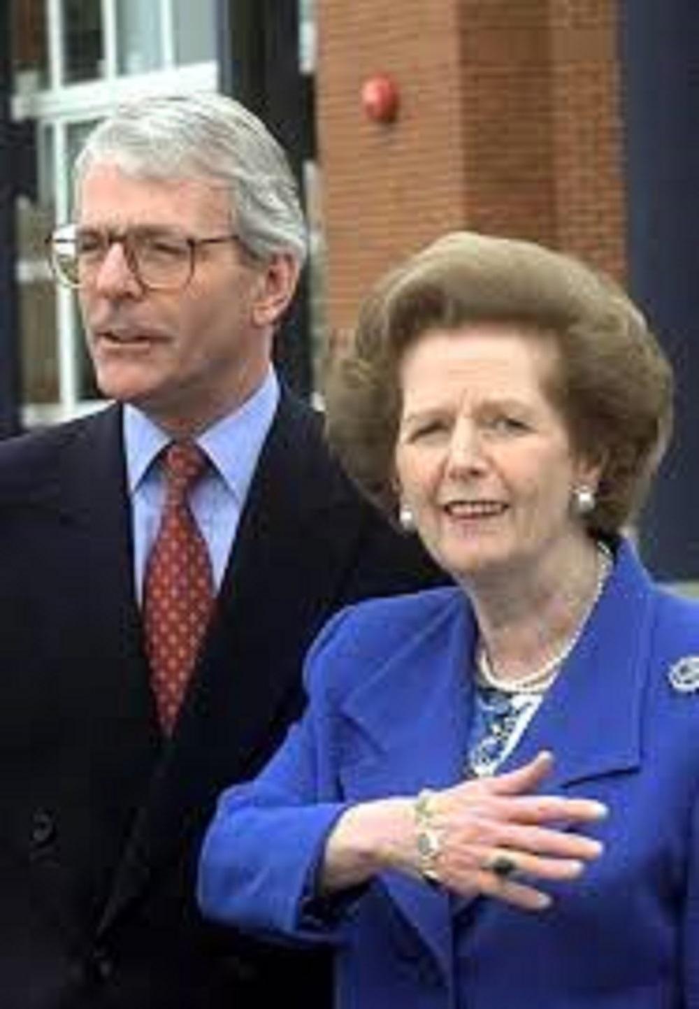 Major e Margaret Thatcher
