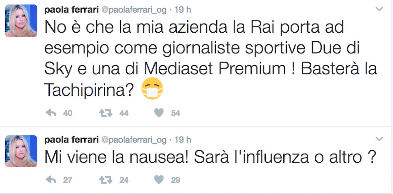 Diletta Leotta, Ilaria D'Amico o Mikaela Calcagno miglior giornalista sportiva. E Paola Ferrari...