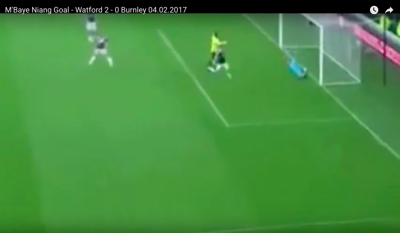 M'Baye Niang video gol Watford-Burnley