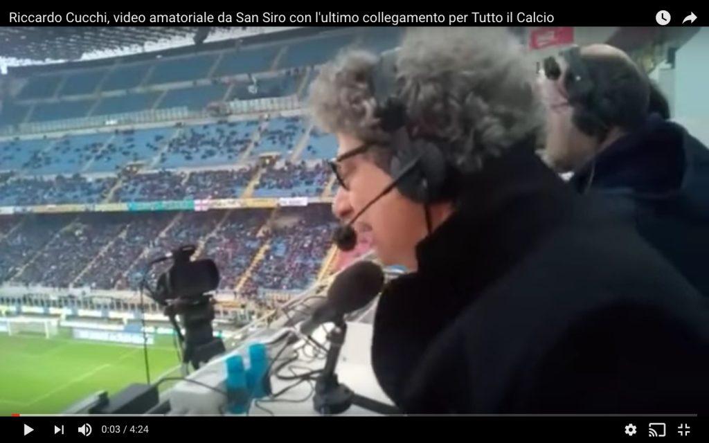 Riccardo Cucchi, ultima telecronaca: il saluto ai radioascoltatori