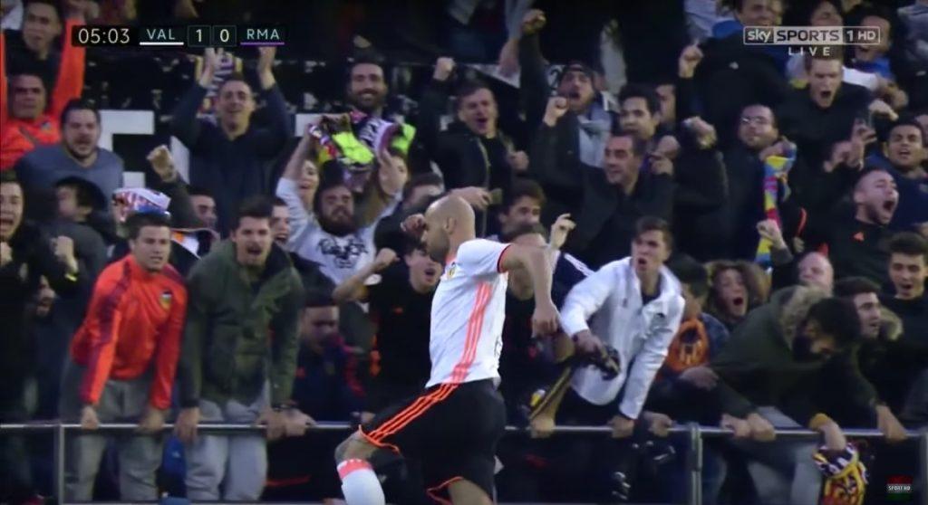 Simone Zaza video gol Valencia-Real Madrid: rete da cineteca