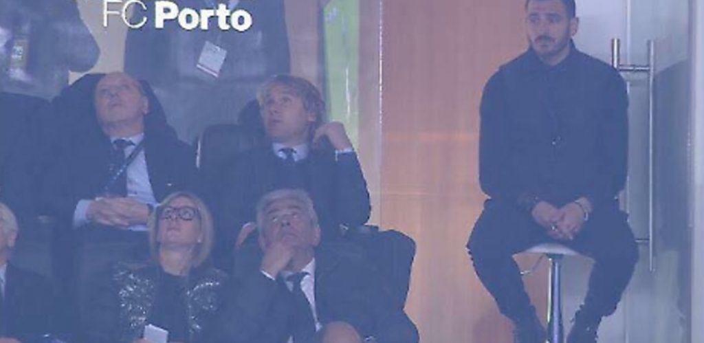 Porto-Juventus, Bonucci punito: in tribuna su uno sgabello