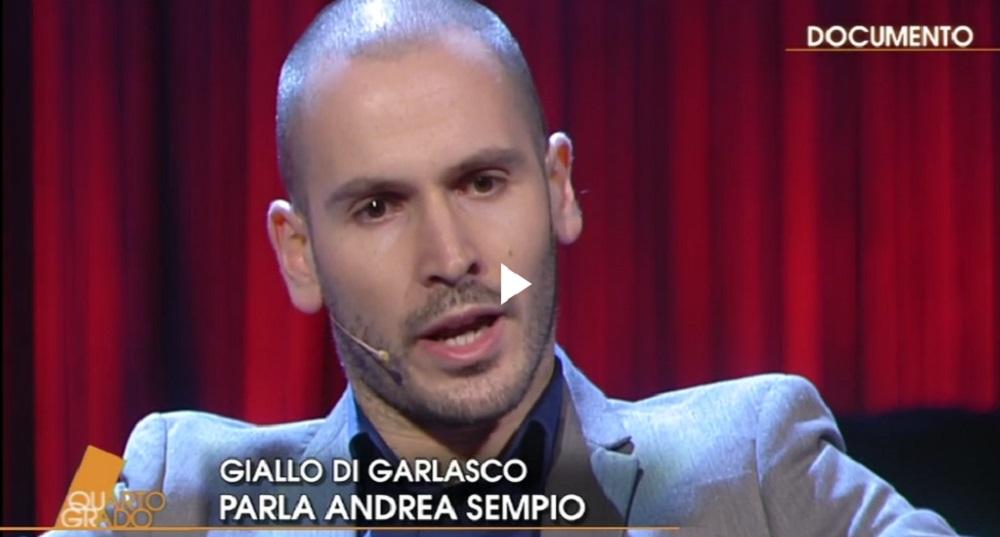 """Andrea Sempio a Quarto Grado: """"Quando vogliono creare un mostro..."""""""
