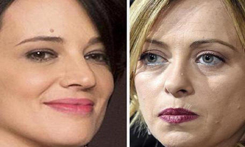 """Giorgia Meloni: """"Asia Argento mi ha telefonato per scusarsi degli insulti"""""""