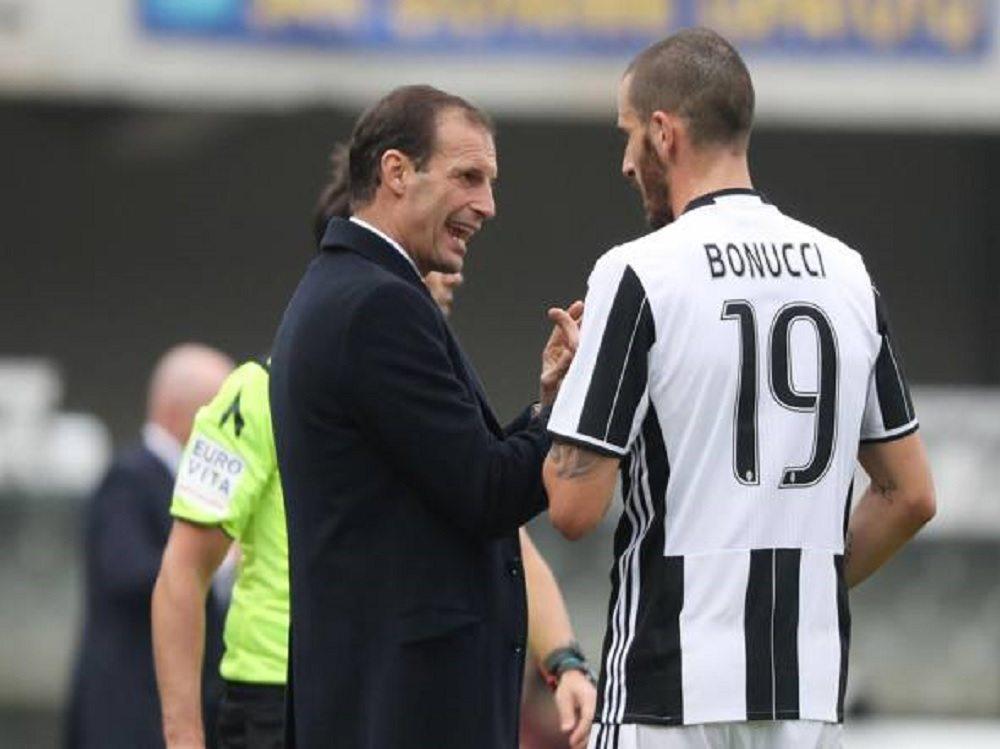 """Juventus, la lite costa cara a Bonucci. Allegri: """"Col Porto va in tribuna"""""""
