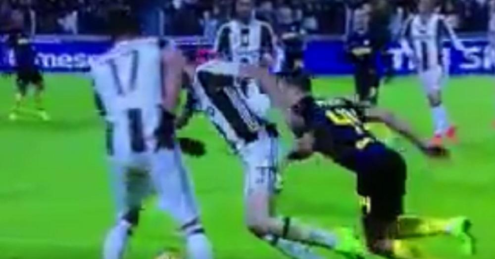 Giorgio Chiellini, tuffo in Juventus-Inter VIDEO. I social non perdonano