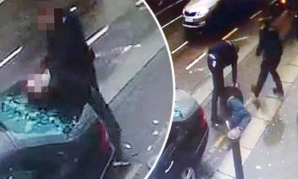 Dublino, poliziotto lo blocca e con la testa spacca vetro auto3