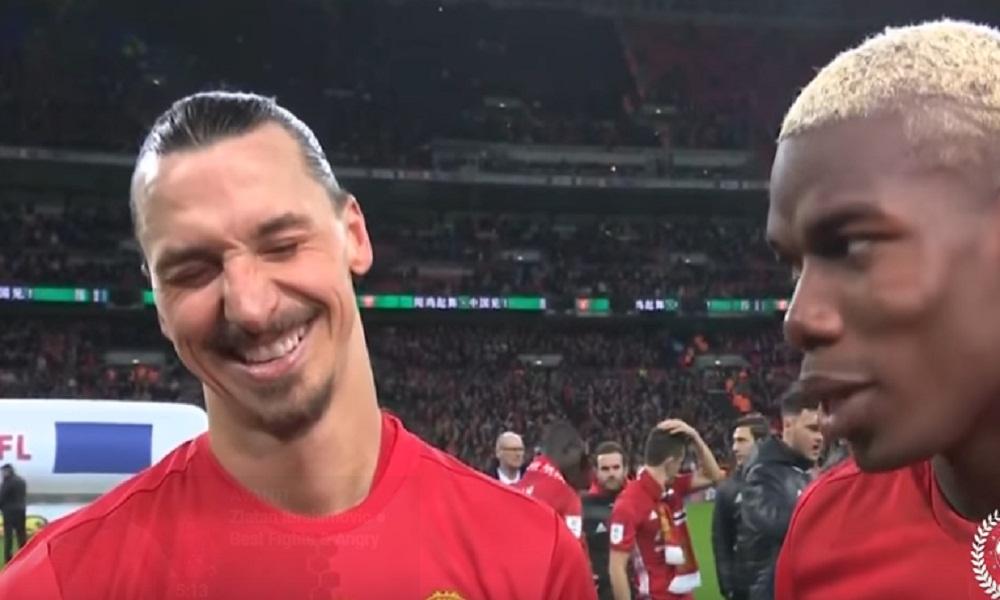"""YOUTUBE Ibrahimovic scherza con Pogba: """"Io sono venuto gratis qui, tu invece..."""""""