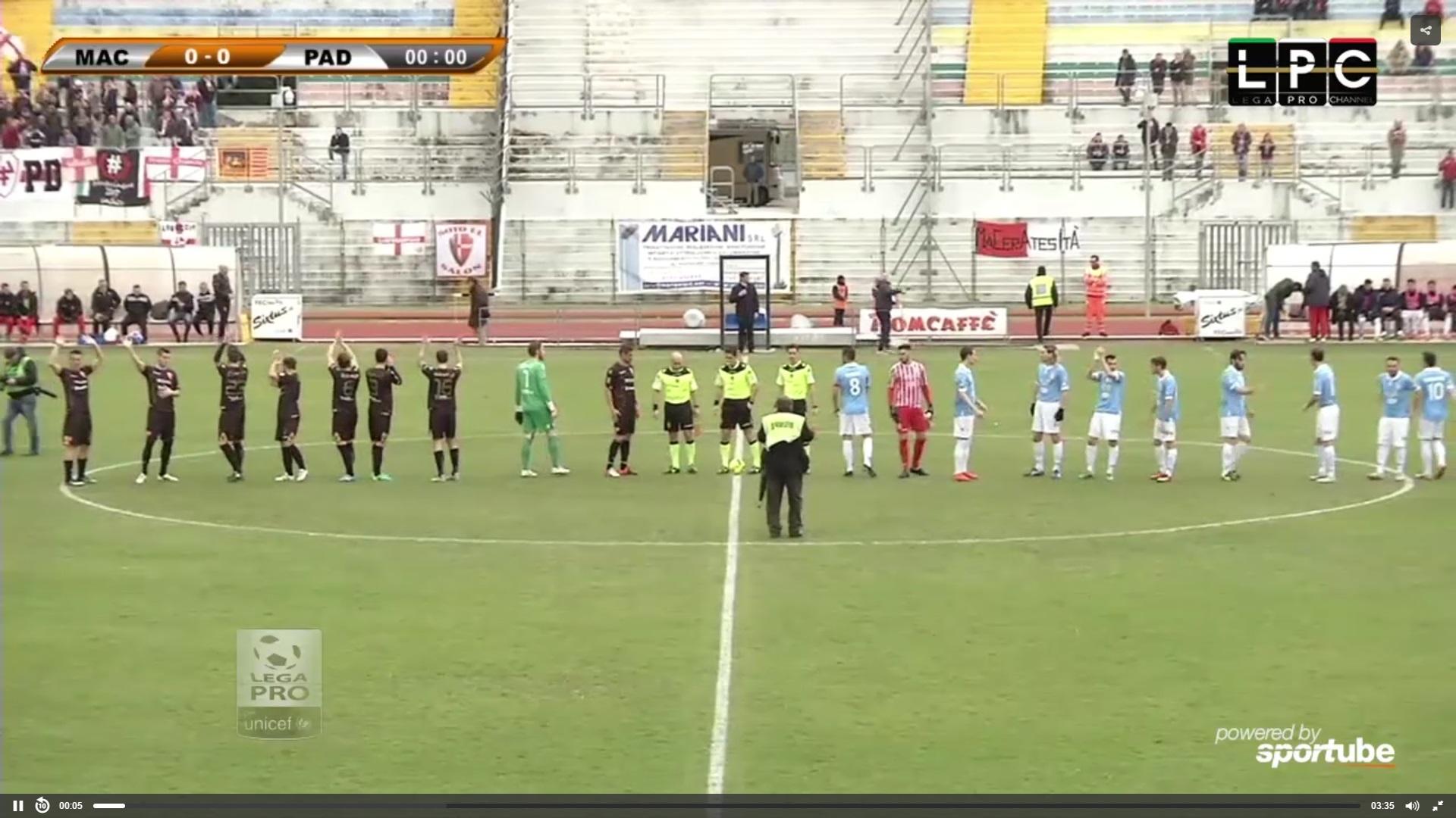Maceratese-Modena Sportube: streaming diretta live, ecco come vedere la partita