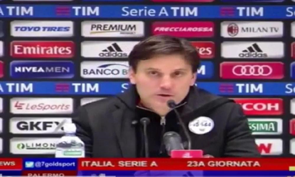 """YOUTUBE Vincenzo Montella, conferenza stampa Milan-Sampdoria: """"Bisogna migliorare..."""""""