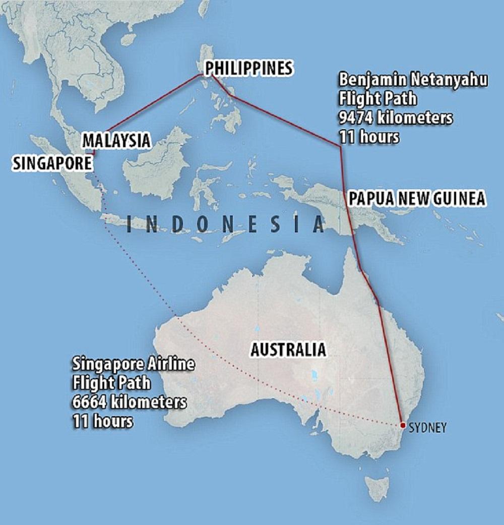 Netanyahu allunga volo di 3 ore per non sorvolare Indonesia: sono musulmani02